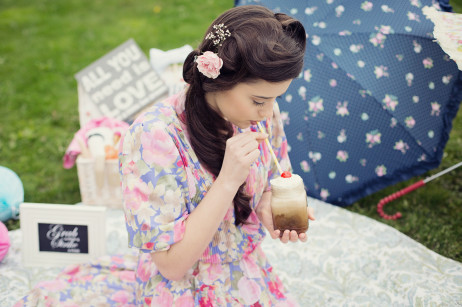 Hair By me, ice cream and sweets by Love My Trike. Florist Made in Flowers by Katie Robinson.